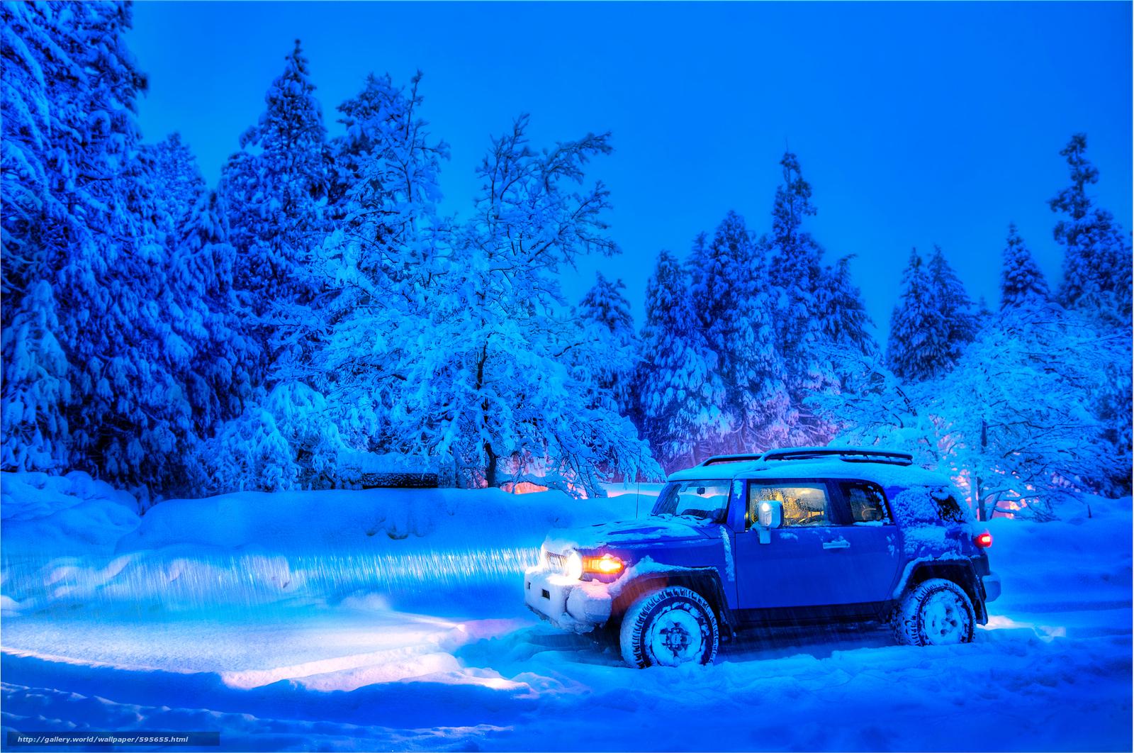 scaricare gli sfondi inverno,  stradale,  alberi,  notte Sfondi gratis per la risoluzione del desktop 4295x2852 — immagine №595655