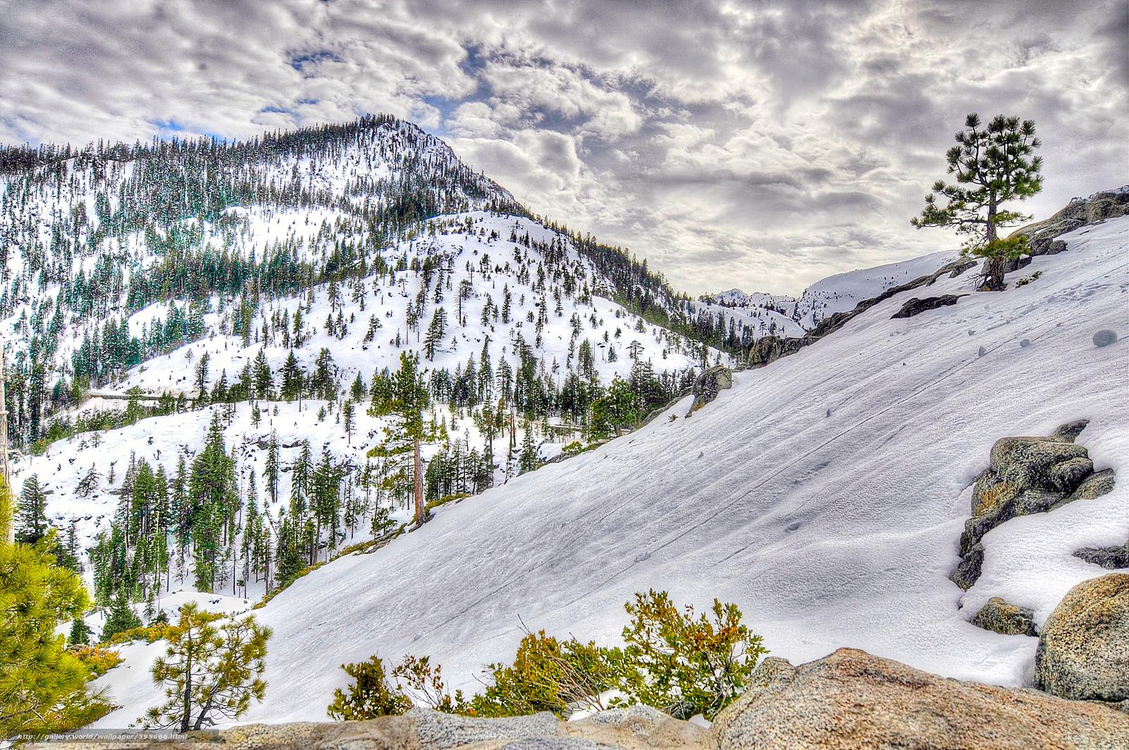 下载壁纸 冬天,  山,  树,  天空 免费为您的桌面分辨率的壁纸 2144x1424 — 图片 №595666