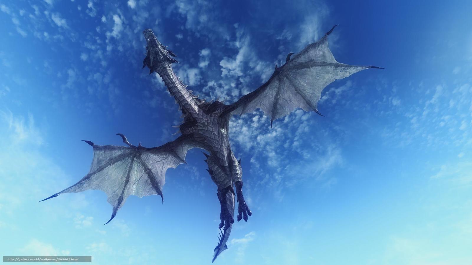 Tlcharger Fond Decran Ciel Dragon 3d Fonds Decran
