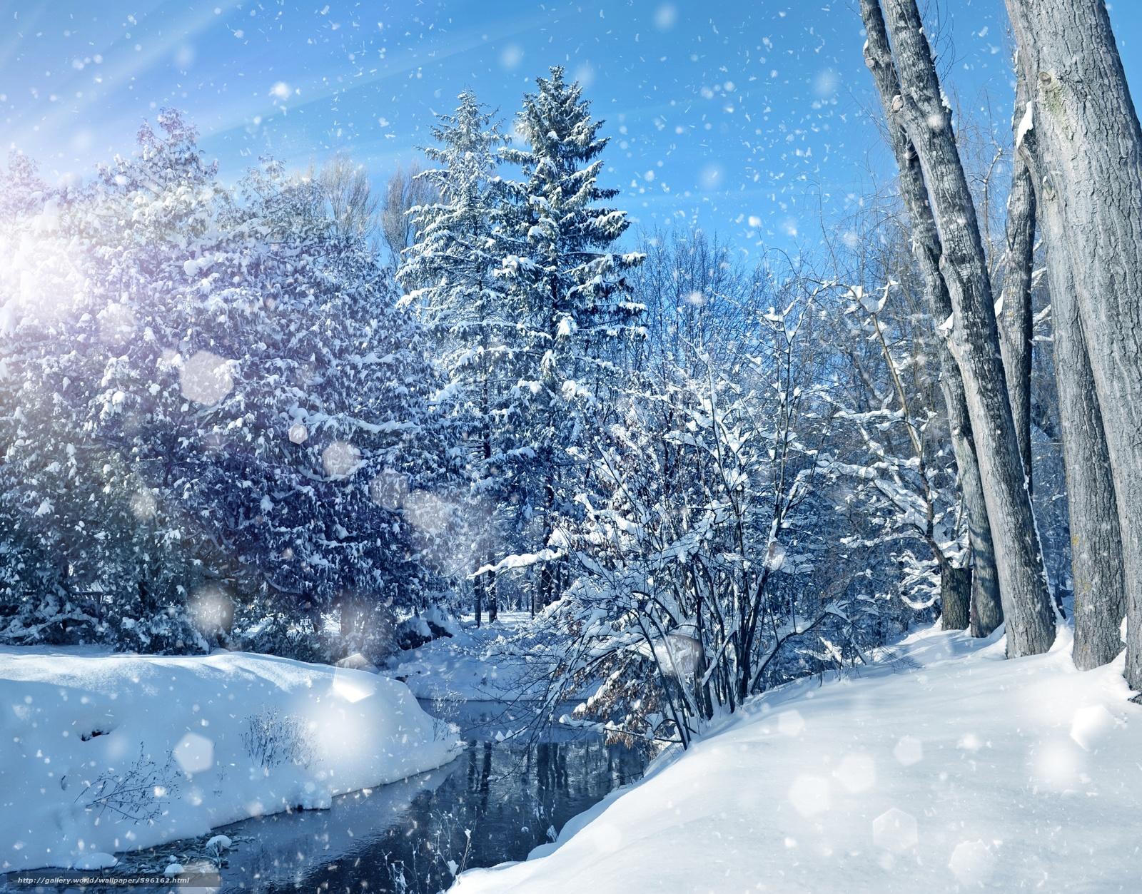 Scaricare gli sfondi inverno fiume alberi nevicata for Sfondi gratis desktop inverno