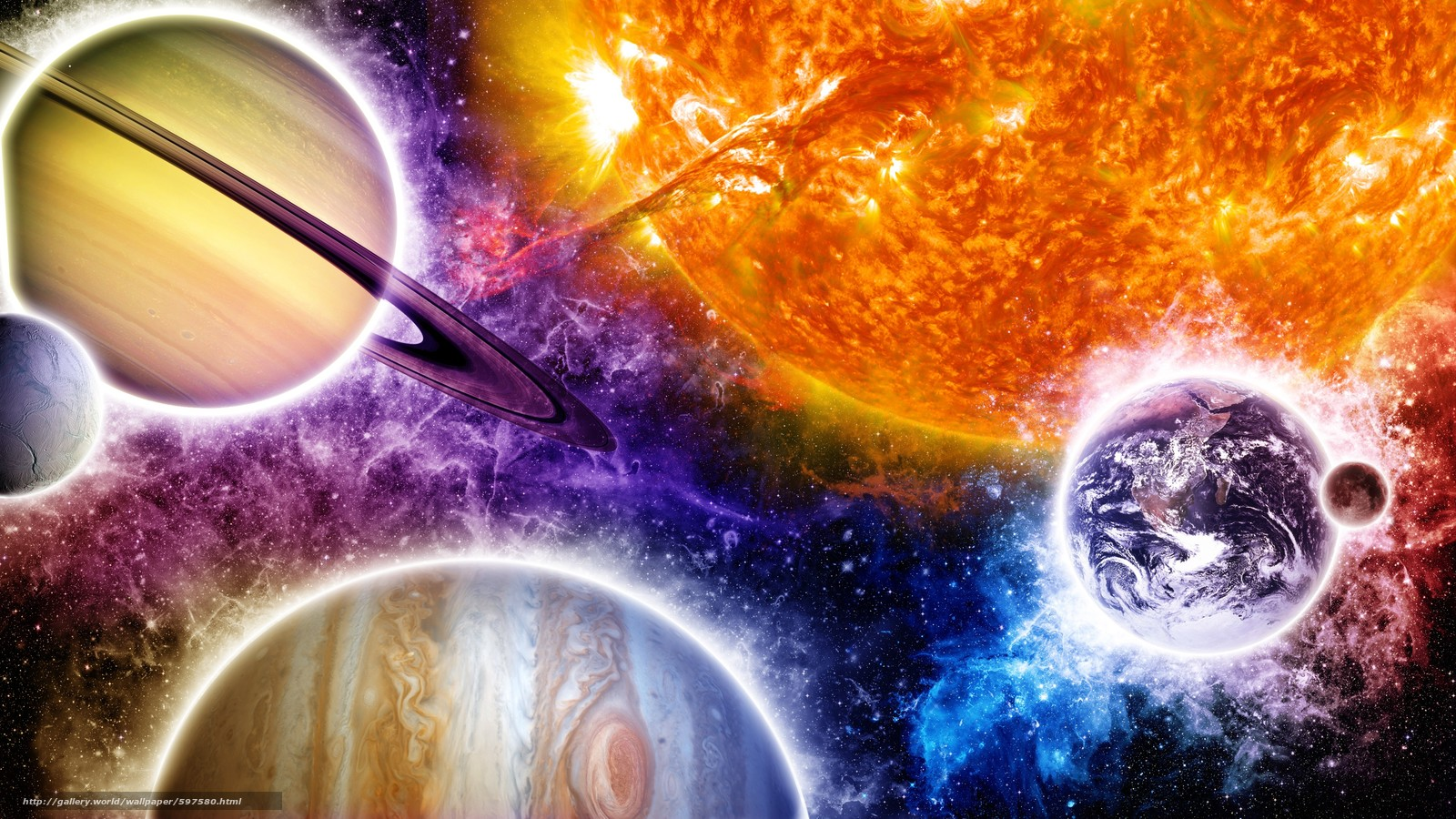 planet space wallpaper