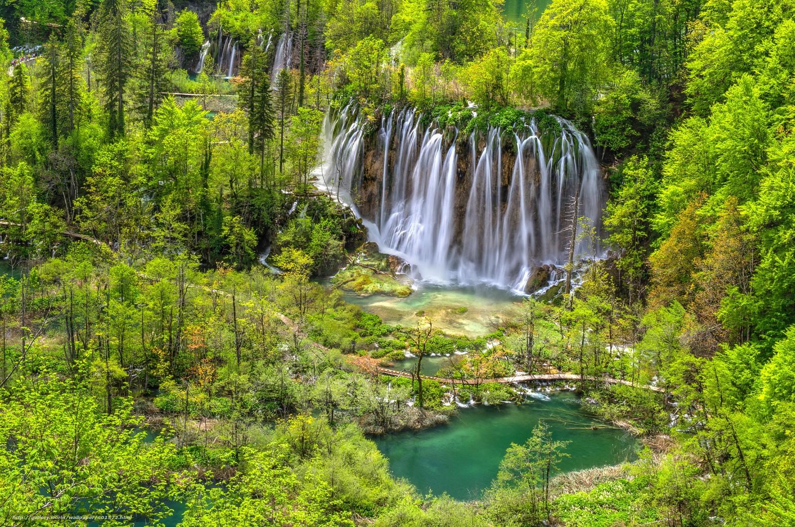 Tlcharger Fond d'ecran arbres,  cascades,  cascade,  parc national Fonds d'ecran gratuits pour votre rsolution du bureau 4947x3279 — image №601572