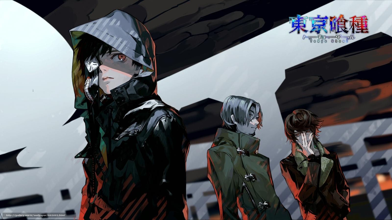 scaricare gli sfondi anime,  Ghoul Tokyo,  Kaneki Sfondi gratis per la risoluzione del desktop 1920x1080 — immagine №602052