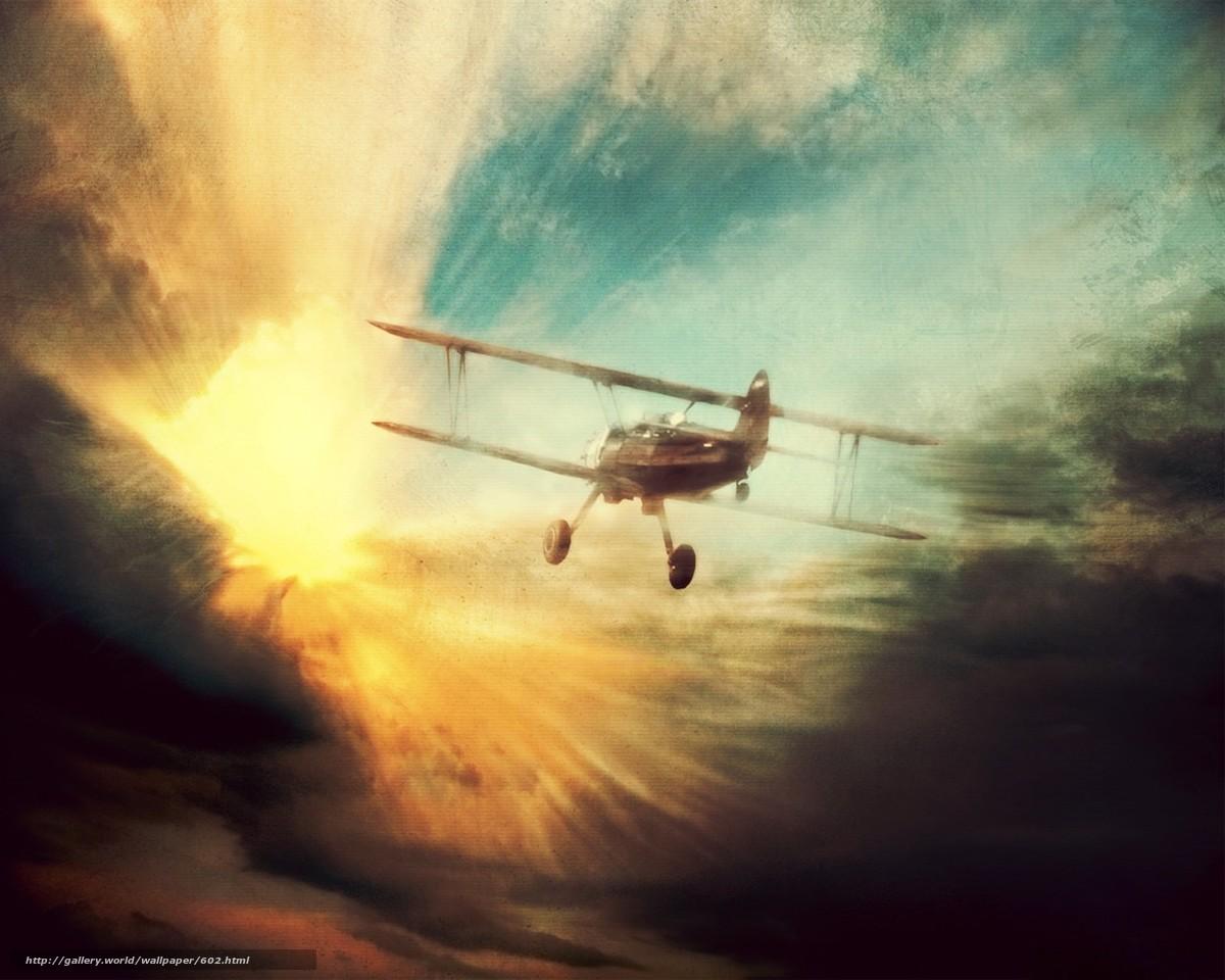Скачать обои самолет,  полет,  мечта бесплатно для рабочего стола в разрешении 1280x1024 — картинка №602