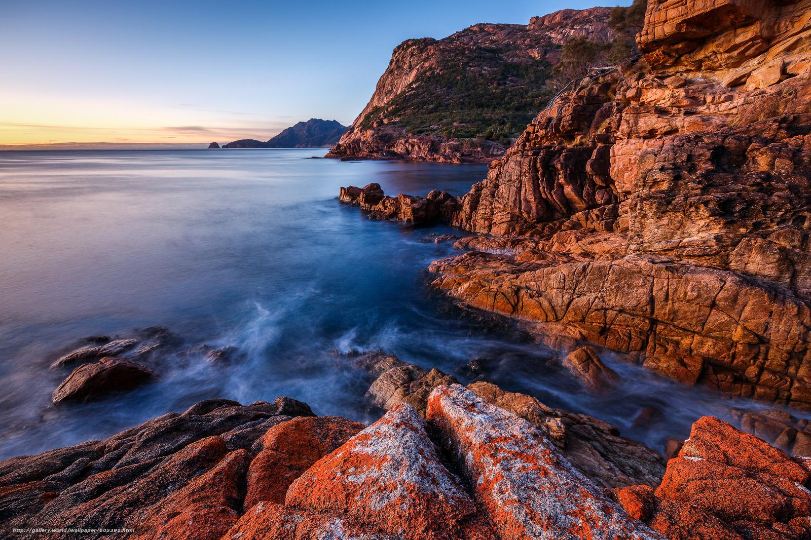 下载壁纸 菲欣纳国家公园,  塔斯马尼亚,  海,  岩石 免费为您的桌面分辨率的壁纸 2048x1365 — 图片 №605391