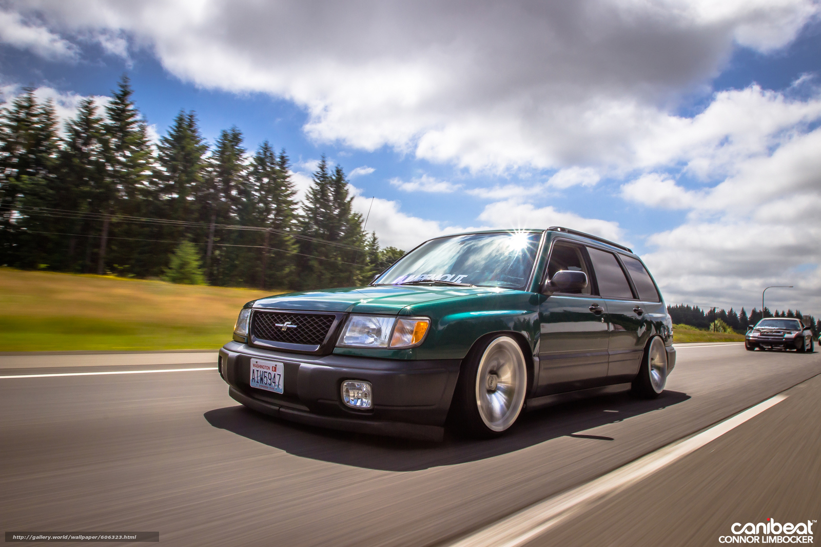 Stanced forester wallpaper