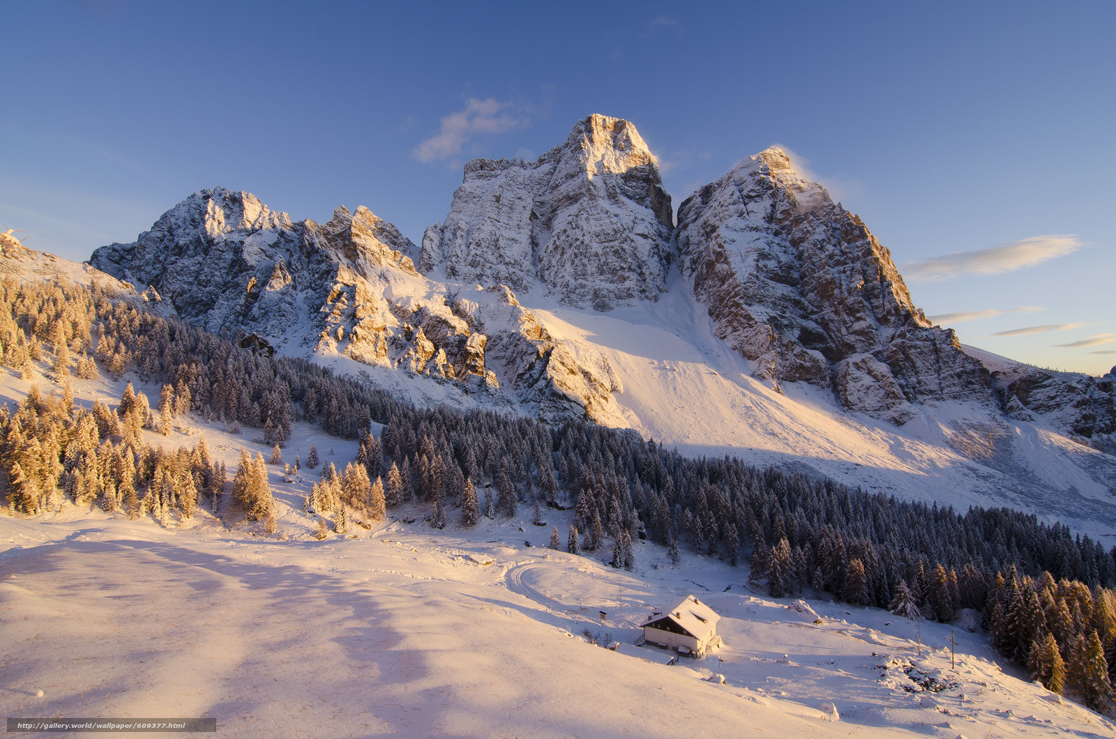 Scaricare gli sfondi montagne alberi cabina inverno for Immagini inverno sfondi