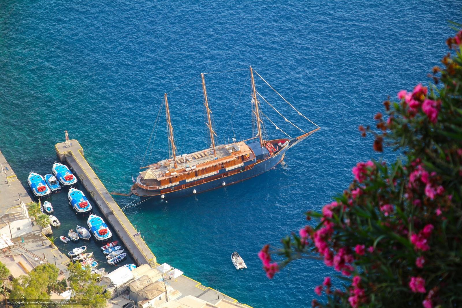 Скачать обои Oia,  Santorini,  Greece,  Aegean Sea бесплатно для рабочего стола в разрешении 3600x2400 — картинка №610458