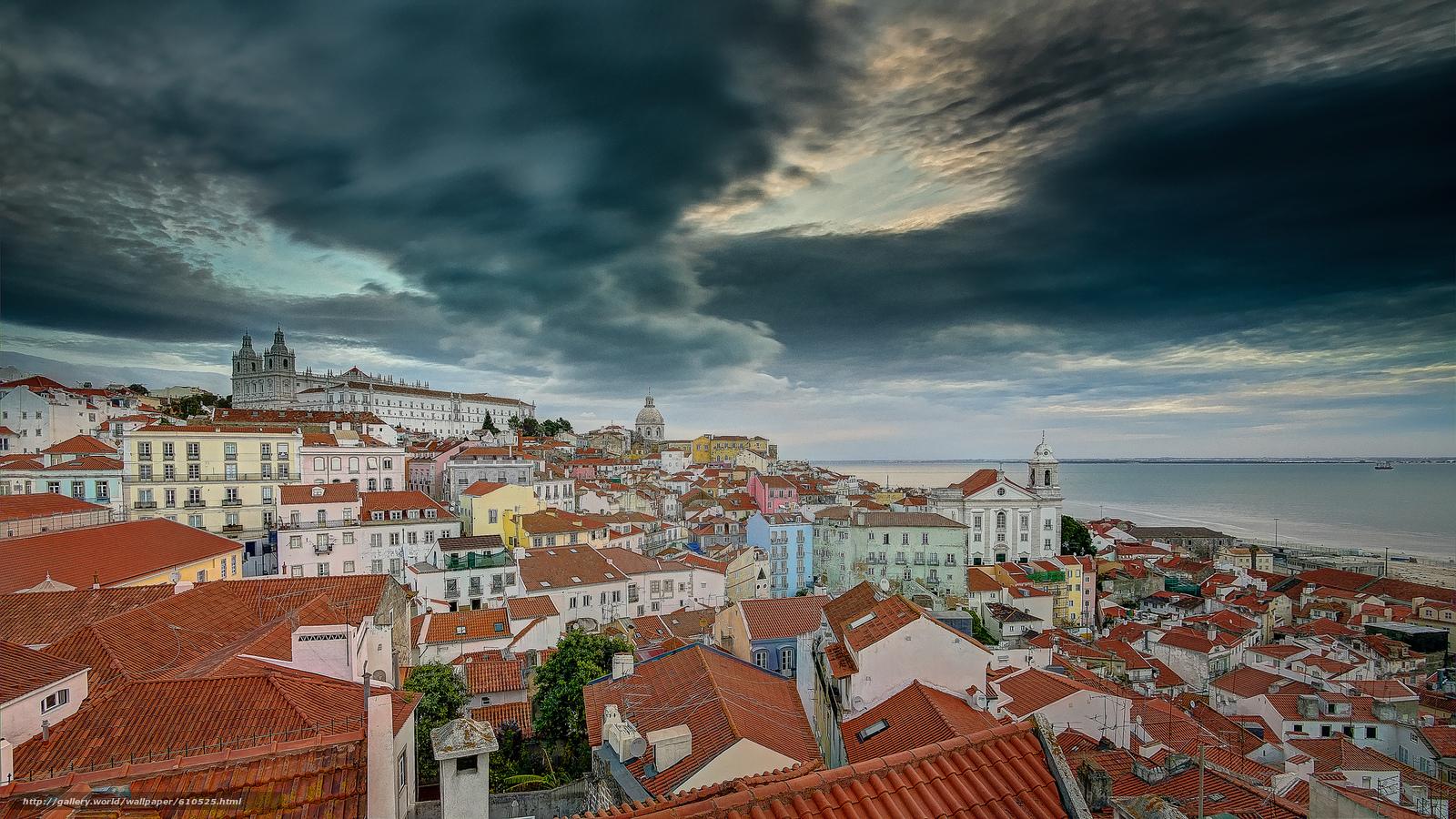 Скачать обои Lisbon,  Portugal,  Лиссабон,  Португалия бесплатно для рабочего стола в разрешении 2048x1152 — картинка №610525