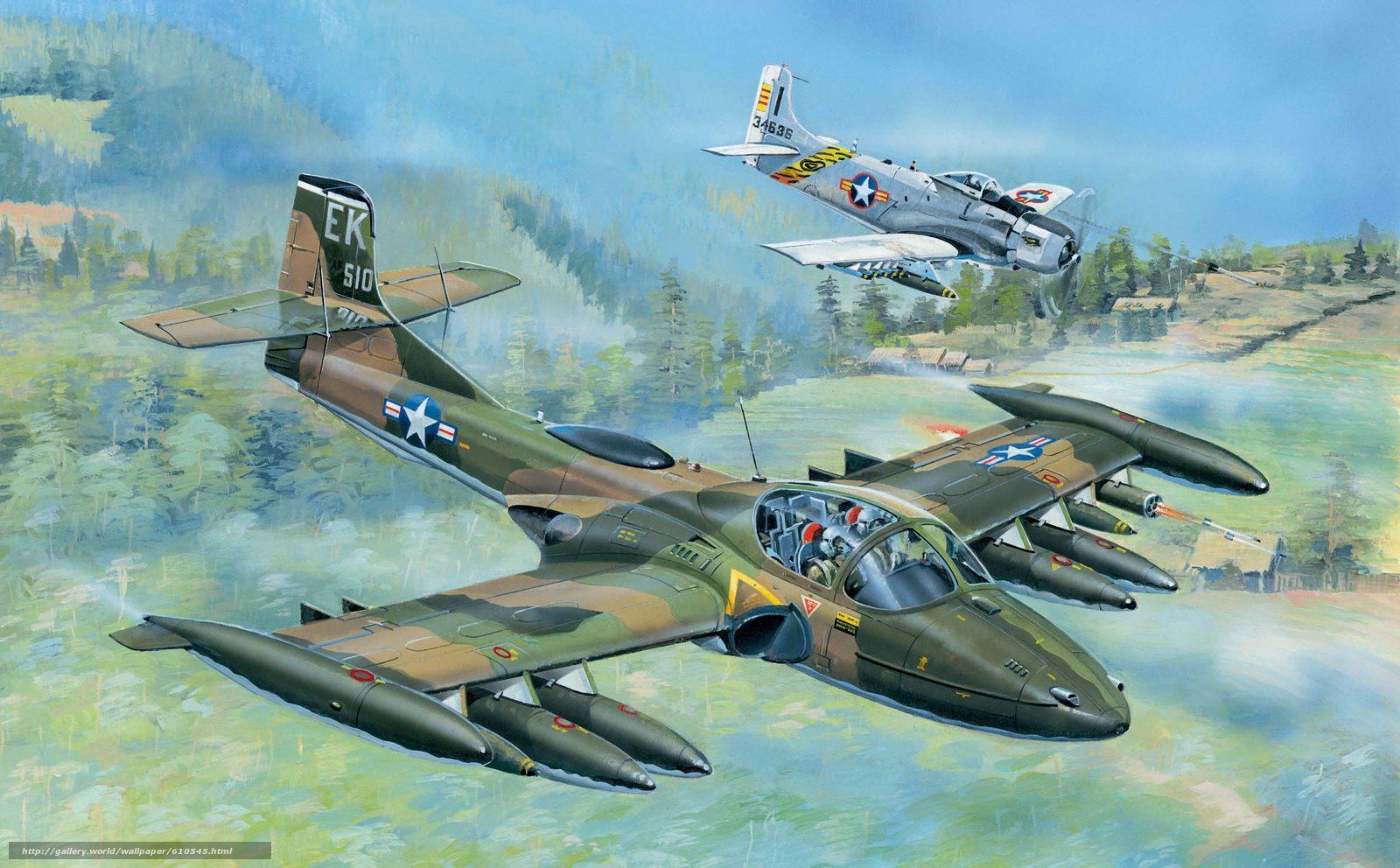 Скачать обои арт,  Самолеты,  США,  A-37A Dragonfly бесплатно для рабочего стола в разрешении 2500x1550 — картинка №610545