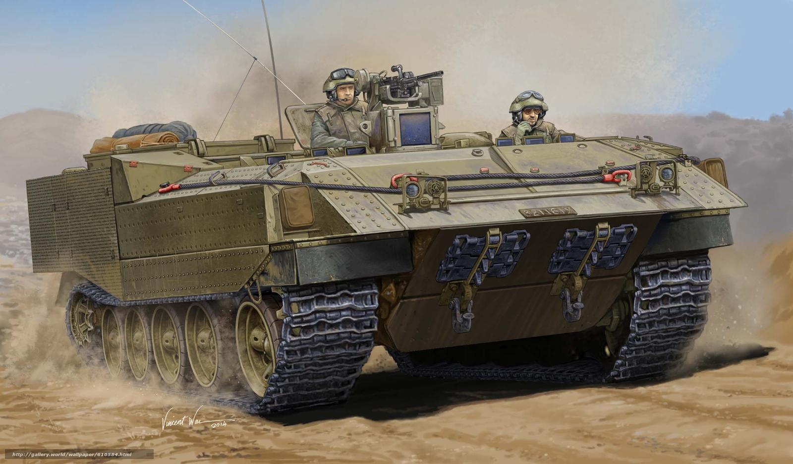 Baixar Wallpaper Arte,  BTR,  Israelense veículo blindado Achzarit Papis de parede grtis na resoluo 2500x1463 — quadro №610584