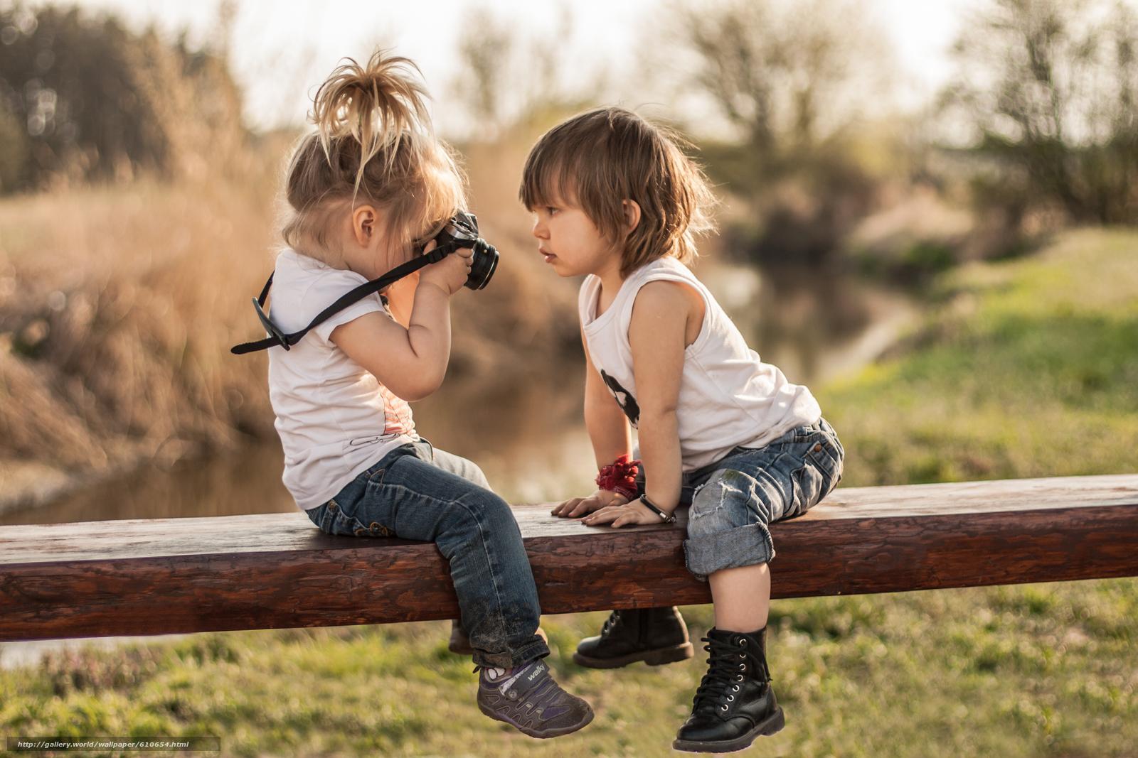 Скачать обои дети,  девочка,  мальчик,  флтограф бесплатно для рабочего стола в разрешении 3888x2592 — картинка №610654