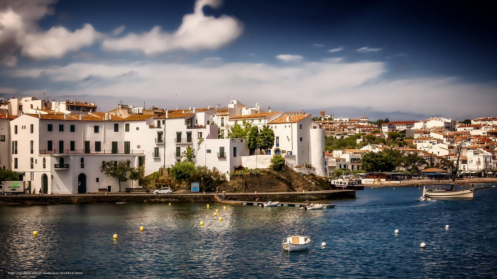 Скачать обои Cadaques,  Catalonia,  Spain,  Mediterranean Sea бесплатно для рабочего стола в разрешении 2560x1440 — картинка №610816