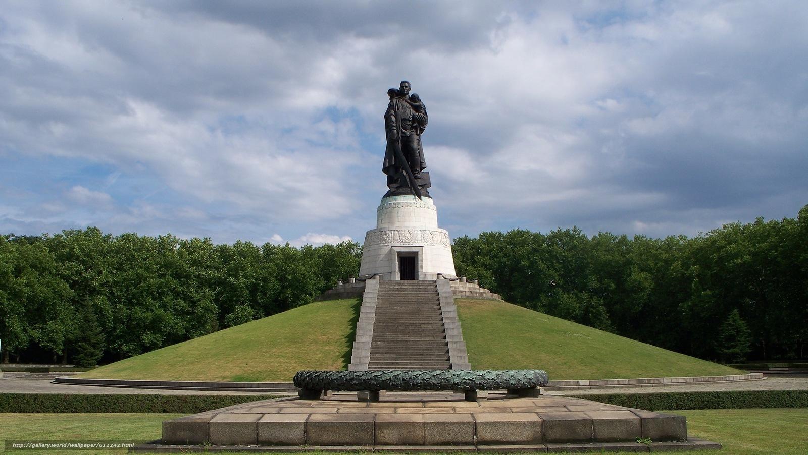 scaricare gli sfondi Germania,  Berlino,  parco,  monumento Sfondi gratis per la risoluzione del desktop 1915x1080 — immagine №611242