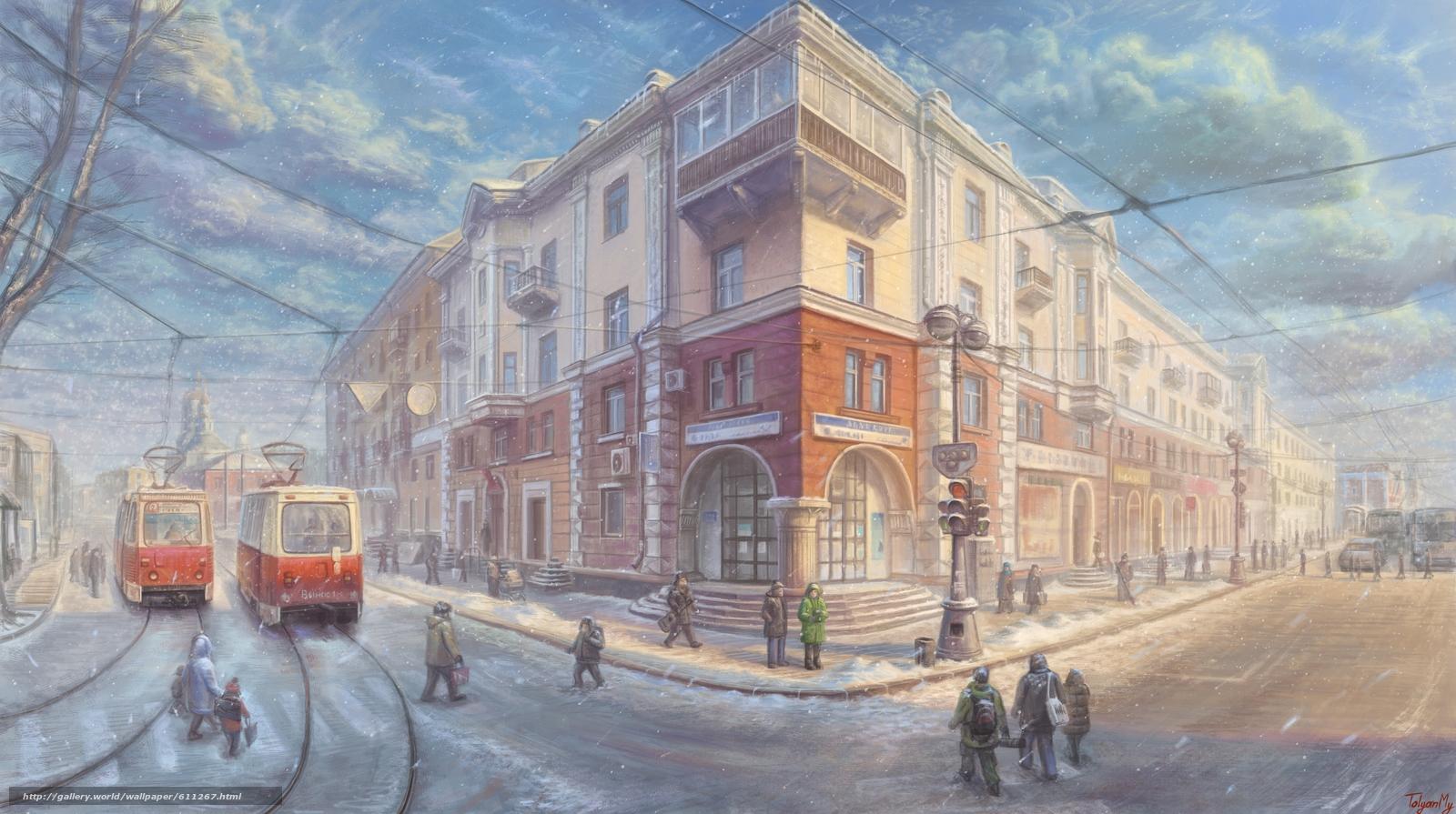 Download wallpaper Irkutsk,  Russia,  Lenin street,  muschenko free desktop wallpaper in the resolution 4500x2516 — picture №611267