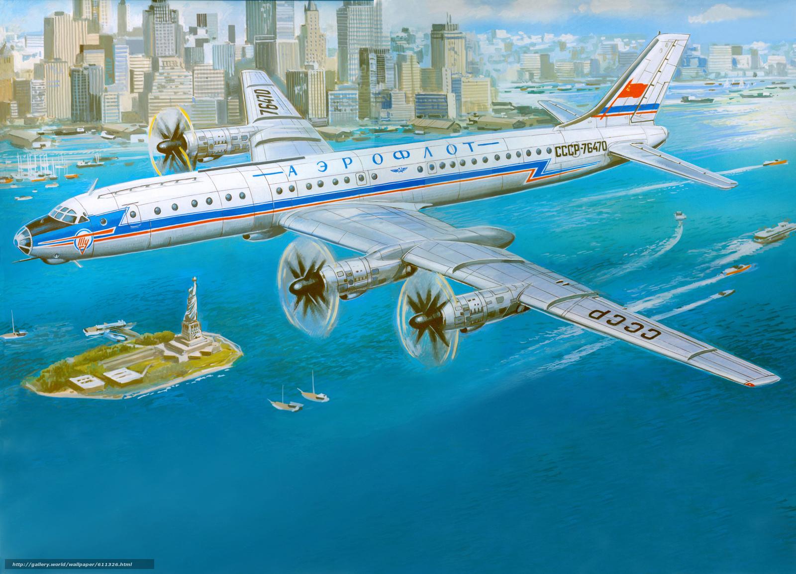 Download wallpaper Tu-114,  Soviet,  turboprop,  Passenger free desktop wallpaper in the resolution 9906x7151 — picture №611326
