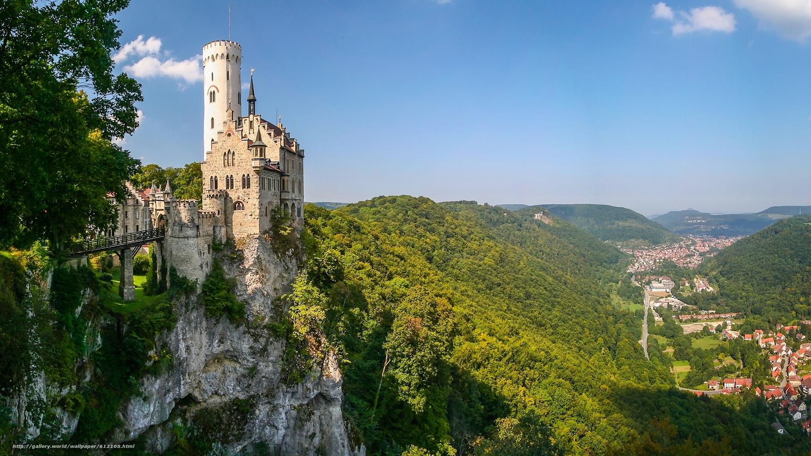 scaricare gli sfondi Castello di Lichtenstein,  Württemberg,  Baden-Württemberg,  Germania Sfondi gratis per la risoluzione del desktop 1920x1080 — immagine №612108