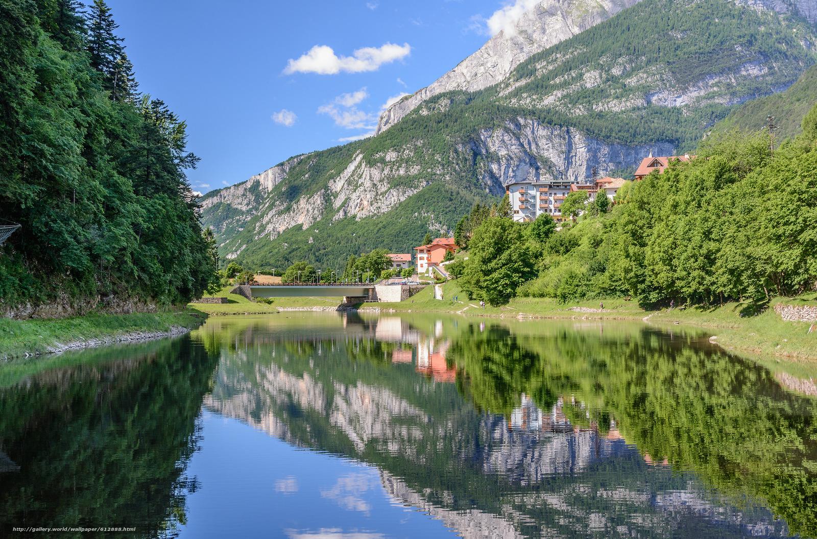 Scaricare Gli Sfondi Lago Di Molveno Trentino Italia Dolomiti