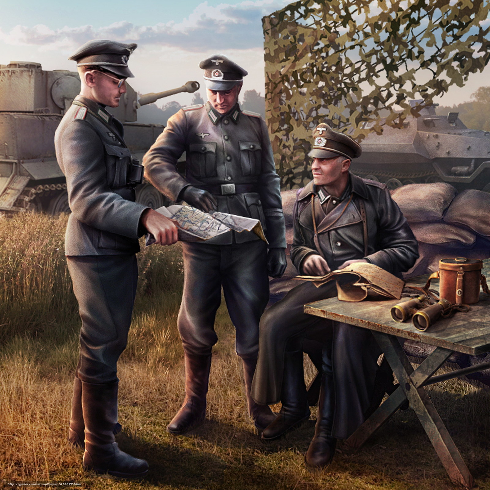 Download wallpaper soldiers,  Wehrmacht,  World of Tanks Generals free desktop wallpaper in the resolution 2291x2291 — picture №613077