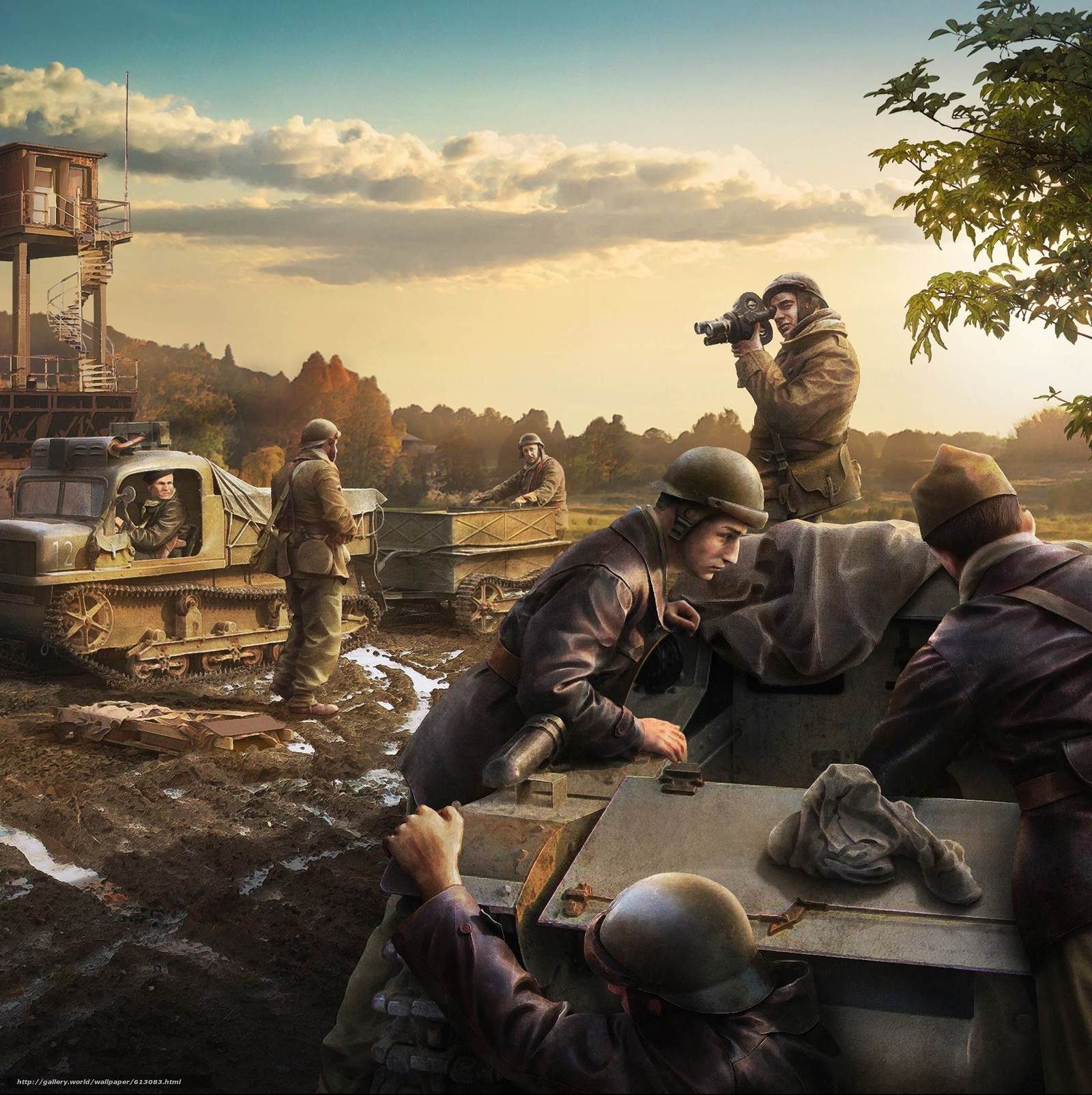 Download wallpaper soldiers,  wedgies,  Reconditioning,  World of Tanks Generals free desktop wallpaper in the resolution 2283x2288 — picture №613083