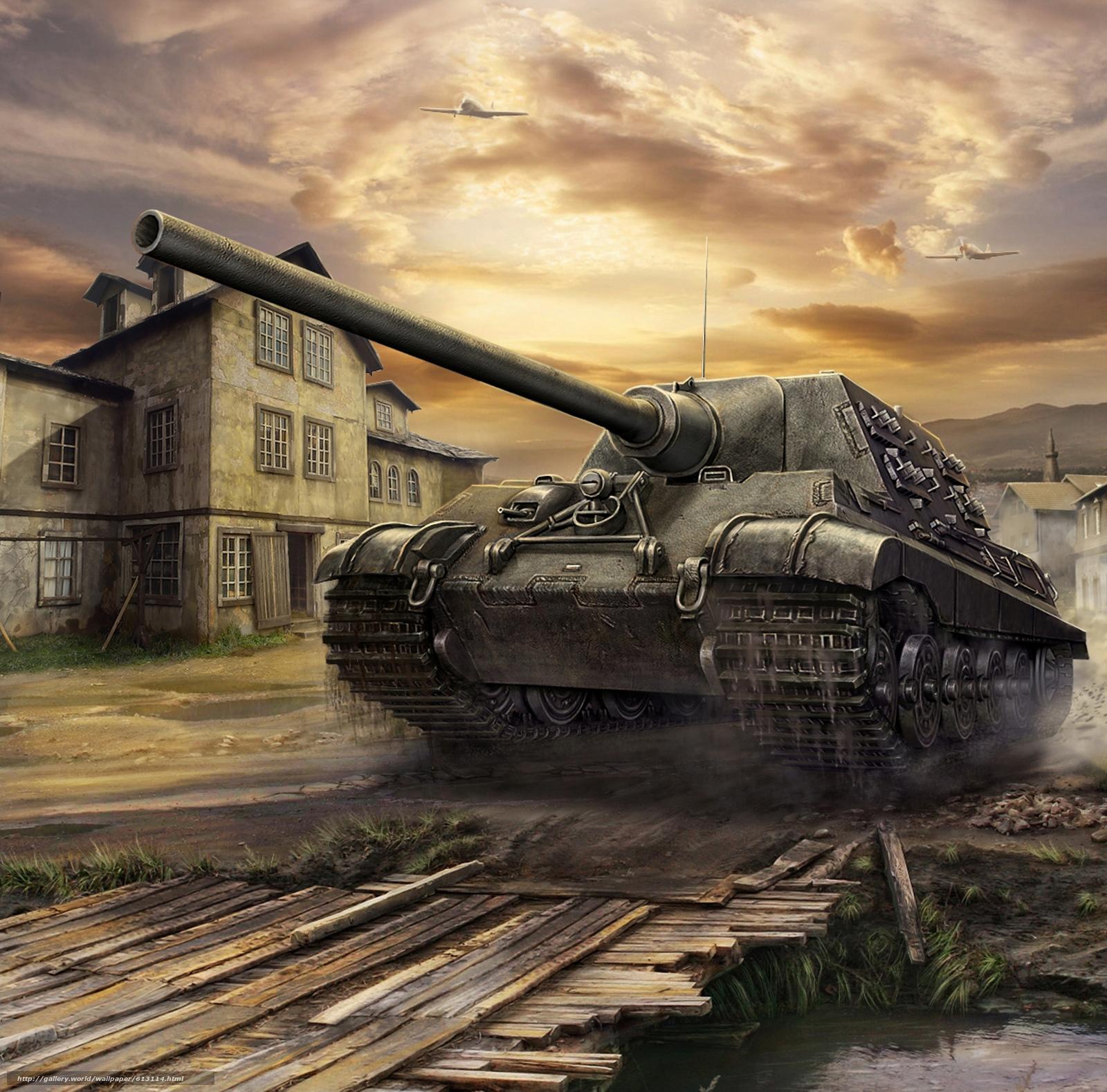 Download wallpaper Art,  SAU,  Jagdtiger,  World of Tanks Generals free desktop wallpaper in the resolution 2323x2292 — picture №613114
