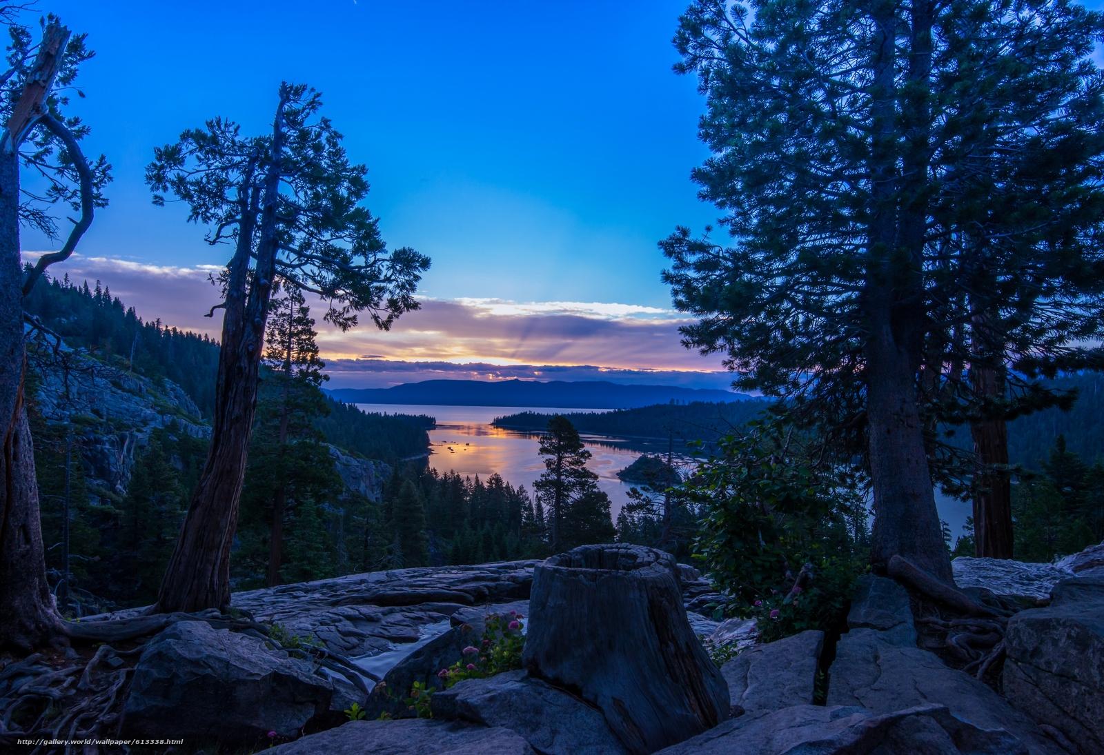 Download Wallpaper Lake Tahoe, California, Nevada, Sierra
