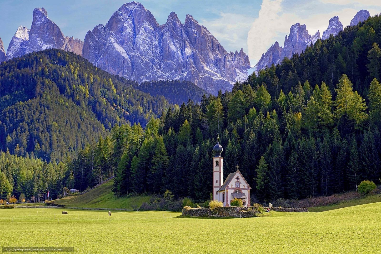 Scaricare Gli Sfondi Villnoss Alto Adige Italia Dolomiti Sfondi