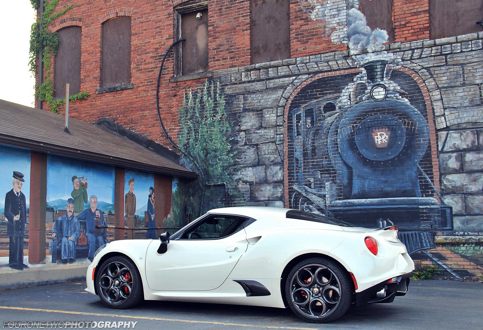 Download wallpaper Alfa Romeo 4C,  Alfa Romeo,  wall,  drawing free desktop wallpaper in the resolution 2048x1401 — picture №613438