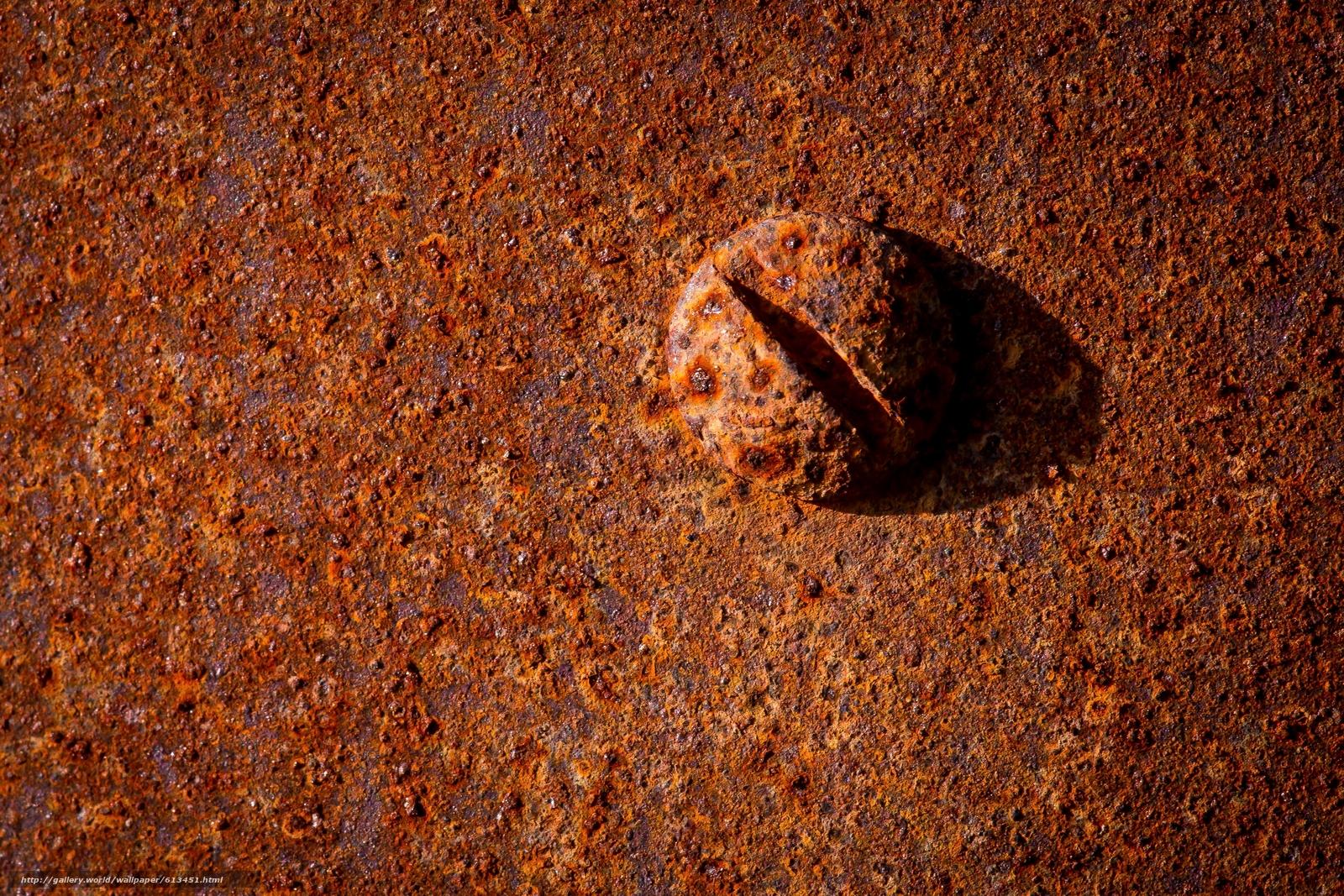 Download wallpaper Bolt,  rust,  metal,  Macro free desktop wallpaper in the resolution 3600x2400 — picture №613451