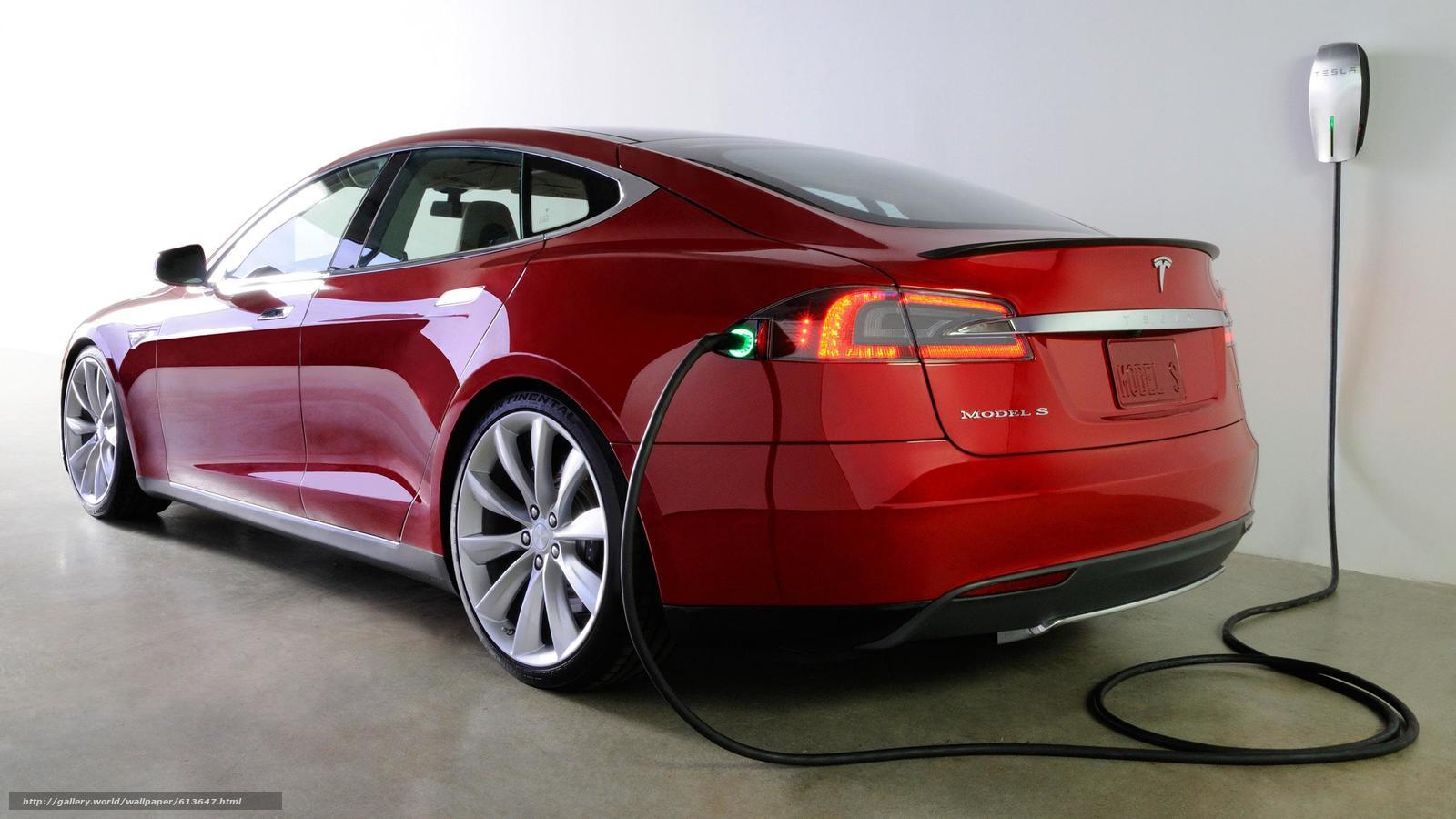 Скачать обои Электромобиль,  красный,  машина,  технологии бесплатно для рабочего стола в разрешении 2560x1440 — картинка №613647