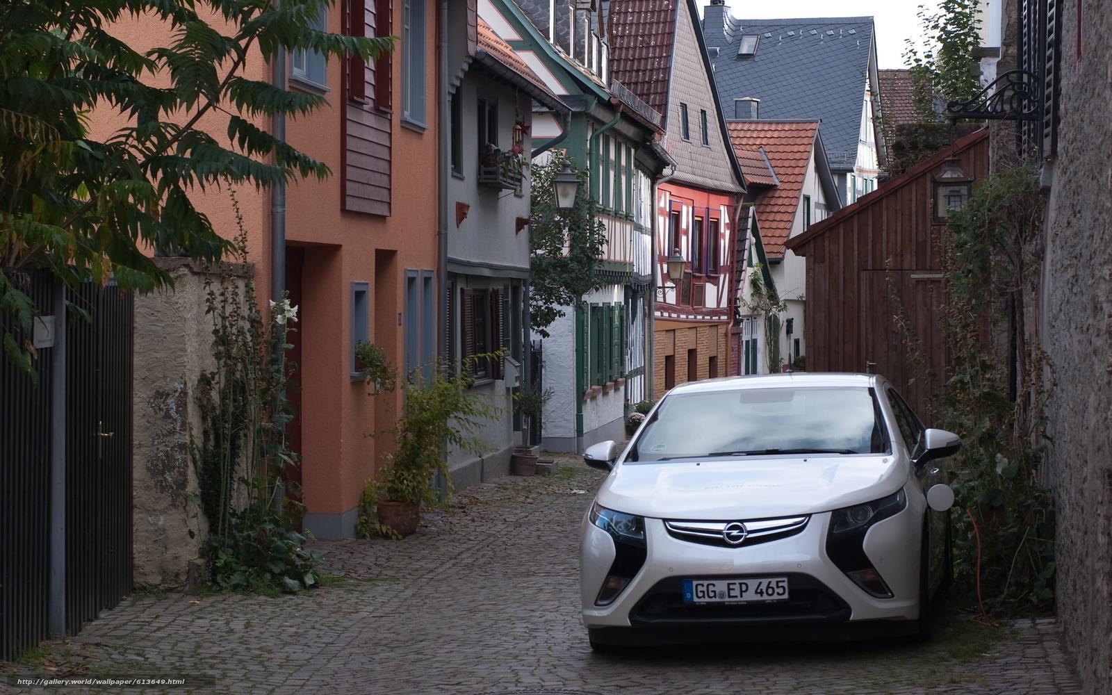 Скачать обои Электромобиль,  Опель,  Ампера,  Opel бесплатно для рабочего стола в разрешении 1920x1200 — картинка №613649