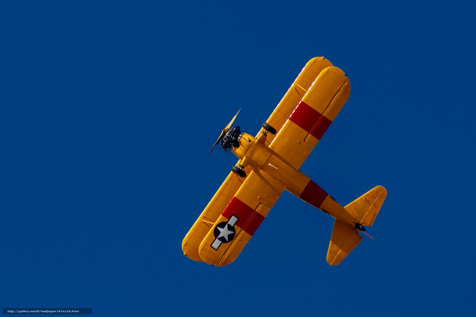 Download wallpaper biplane,  plane,  sky free desktop wallpaper in the resolution 2560x1707 — picture №614135