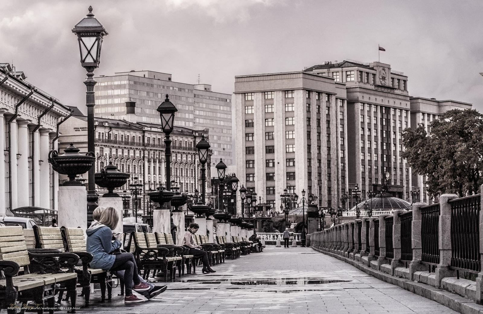 Скачать обои скамейка,  люди,  фонарь,  здание бесплатно для рабочего стола в разрешении 5164x3364 — картинка №614219