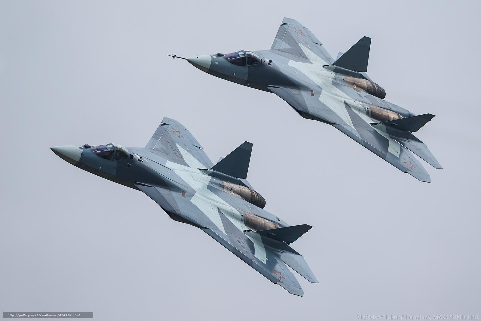 Скачать обои Авиация,  ВВС,  Россия,  ПАК ФА бесплатно для рабочего стола в разрешении 2560x1707 — картинка №614354