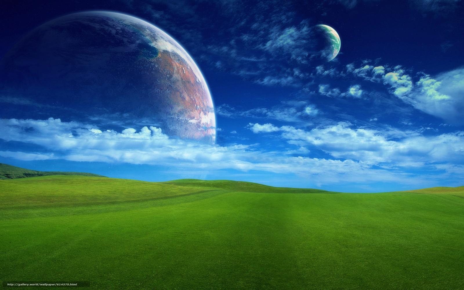 下载壁纸 场,  天空,  云,  地球 免费为您的桌面分辨率的壁纸 1920x1200 — 图片 №614375