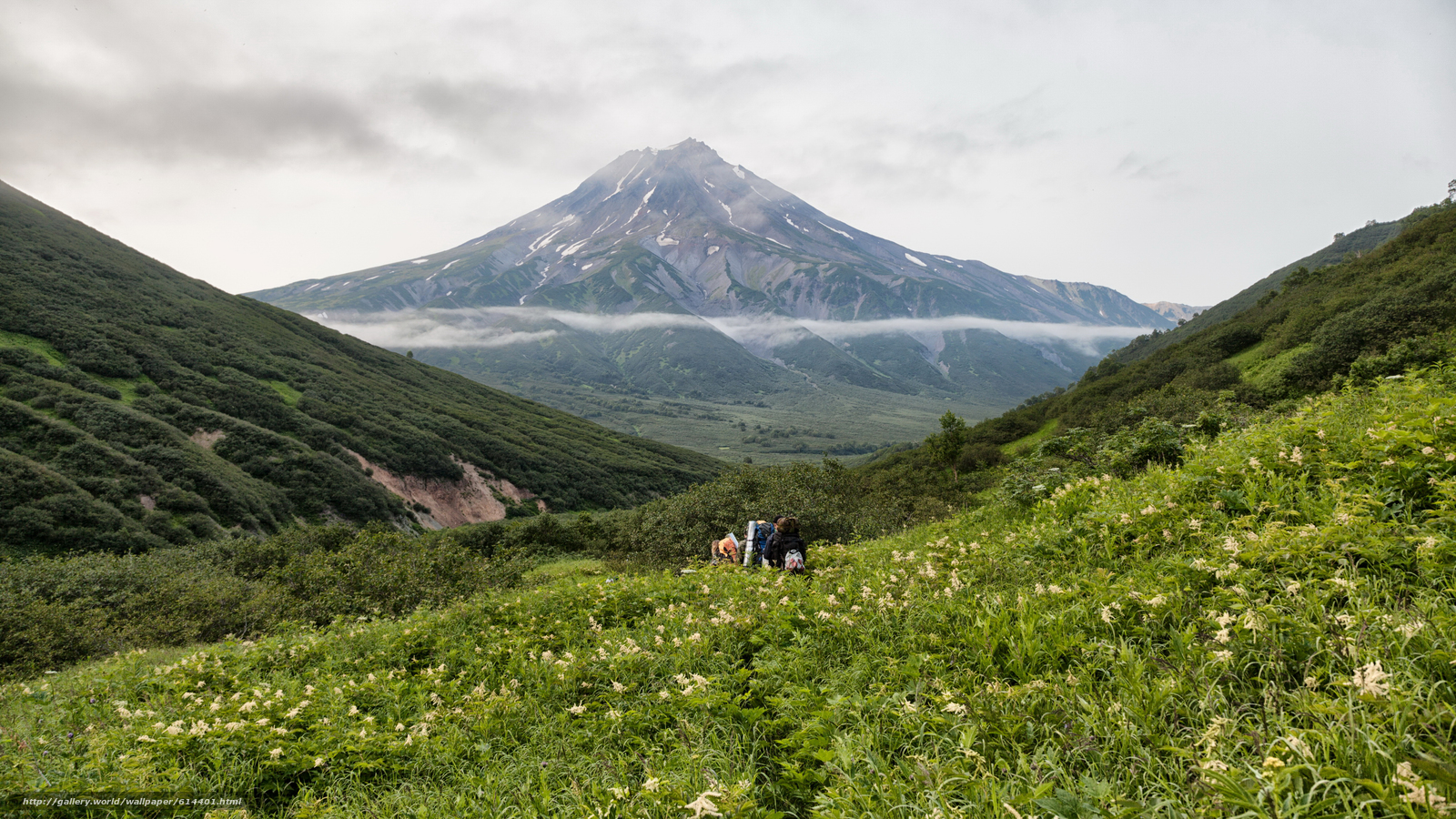 Download wallpaper Russia,  Kamchatka,  landscape,  Mountains free desktop wallpaper in the resolution 4000x2250 — picture №614401