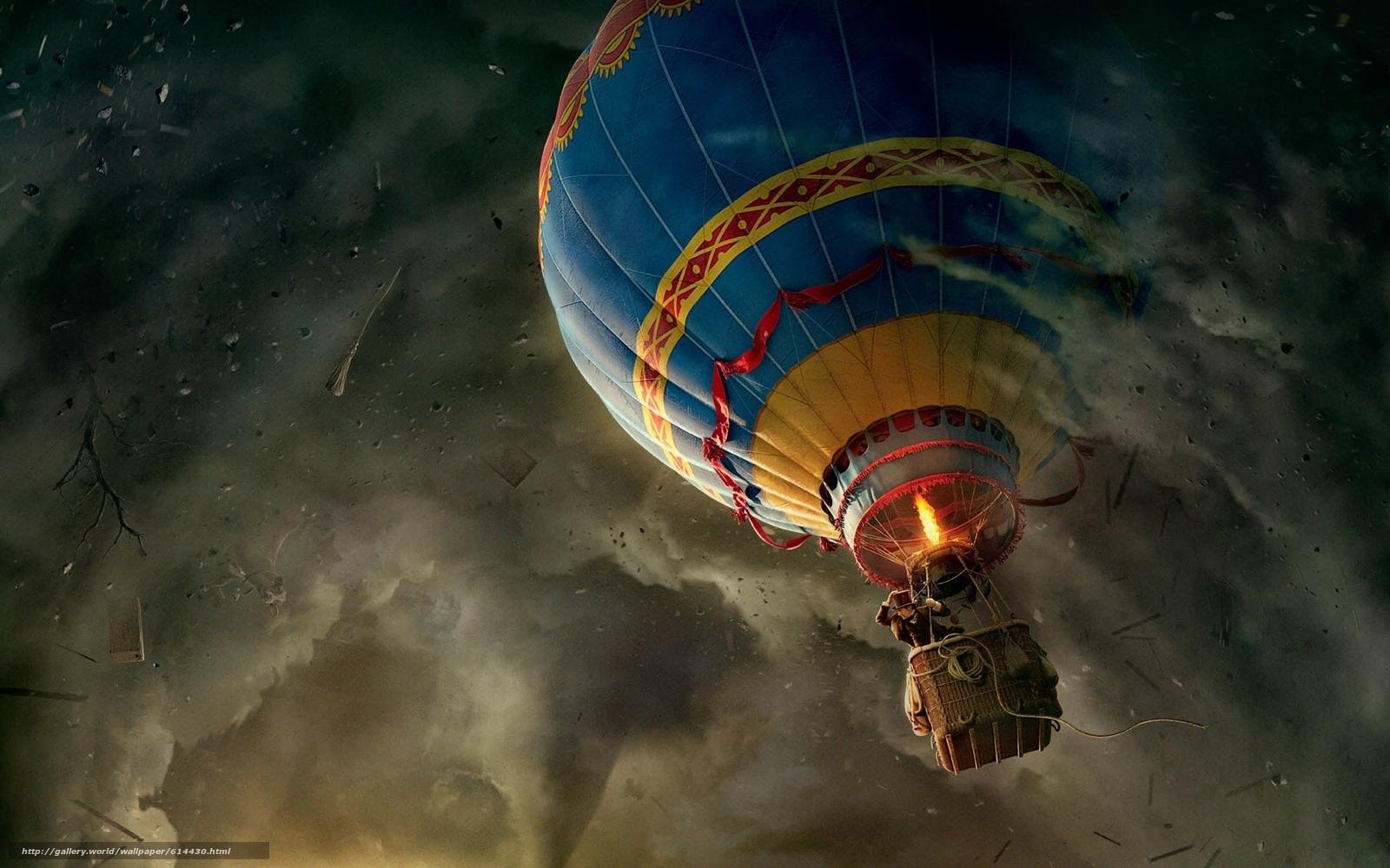 Скачать обои воздушный,  шар,  смерч,  приключения бесплатно для рабочего стола в разрешении 1920x1200 — картинка №614430