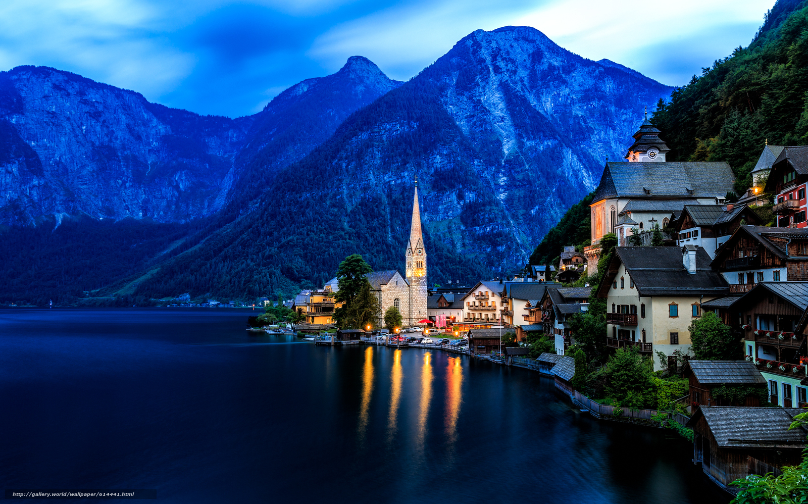 Download wallpaper Hallstatt,  Austria,  Lake Hallstatt,  Alps free desktop wallpaper in the resolution 2048x1277 — picture №614441