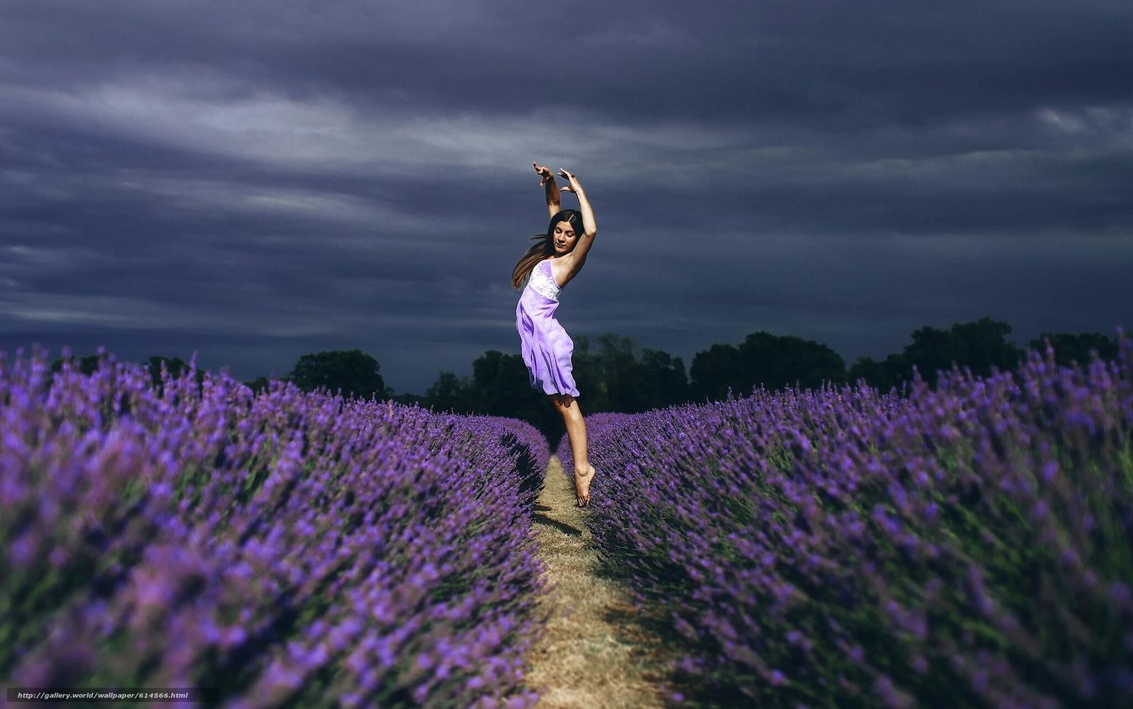 Скачать обои девушка,  танец,  прыжок,  поле бесплатно для рабочего стола в разрешении 1920x1201 — картинка №614566