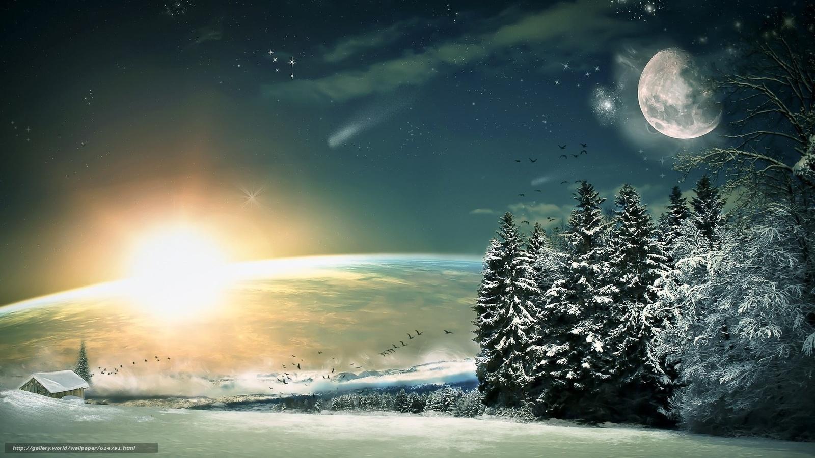 scaricare gli sfondi luna,  Stella,  notte,  fantasia Sfondi gratis per la risoluzione del desktop 1920x1080 — immagine №614791