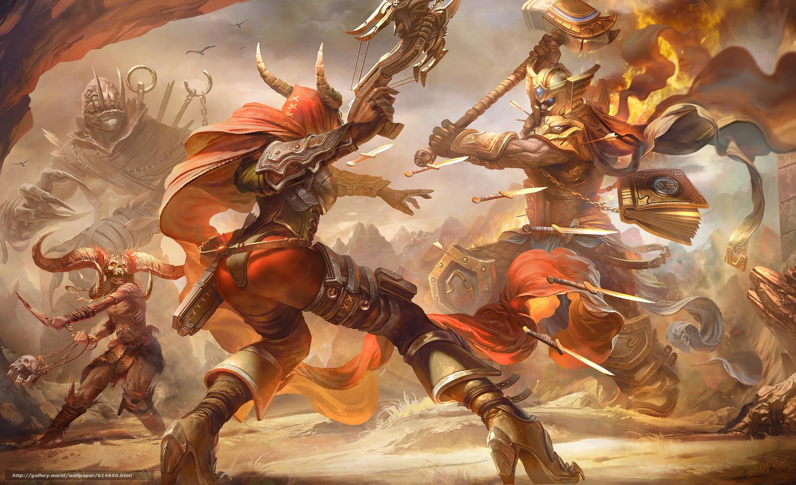 Descargar gratis Héroes de la tormenta,  Valla,  Demon Hunter,  Uther Fondos de escritorio en la resolucin 4243x2587 — imagen №614950