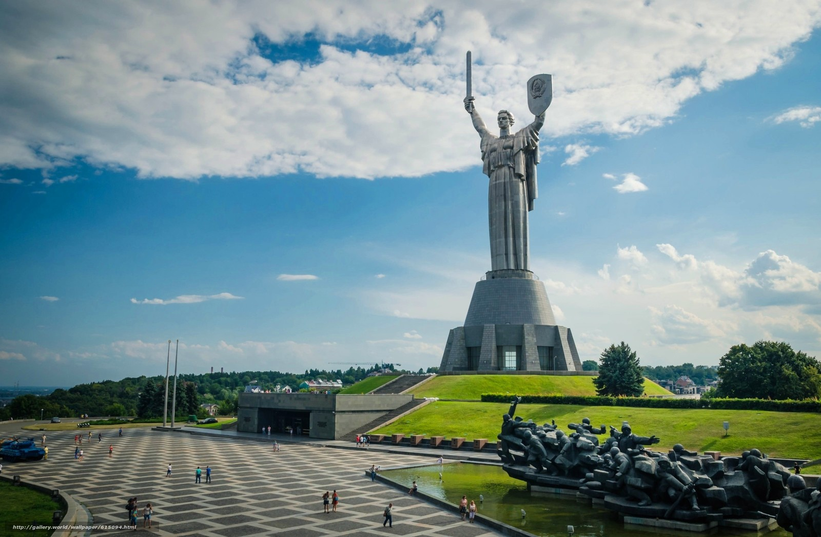 Download Wallpaper Motherland Monument Sculpture Kiev