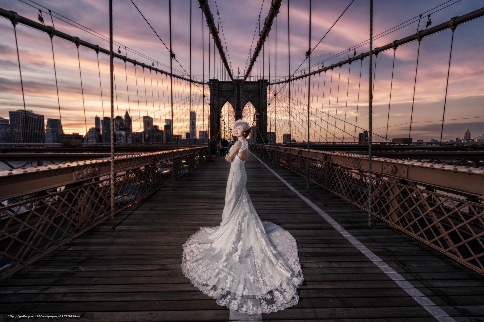 Скачать обои Brooklyn Bridge,  New York City,  Бруклинский мост,  Нью-Йорк бесплатно для рабочего стола в разрешении 2048x1363 — картинка №615154