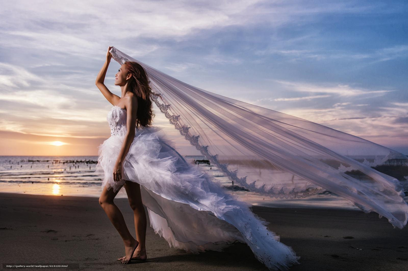 Скачать обои свадьба,  невеста,  свадебное платье,  платье бесплатно для рабочего стола в разрешении 2048x1363 — картинка №615155