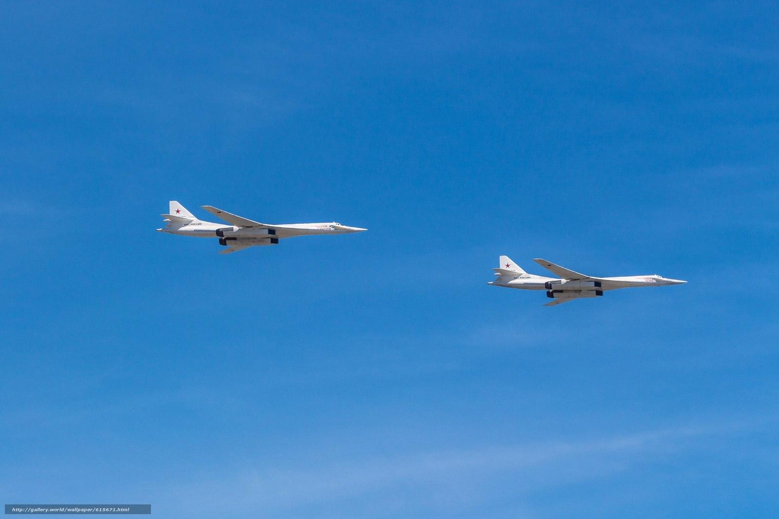 Скачать обои Туполев,  Ту-160,  Пара,  Полёт бесплатно для рабочего стола в разрешении 2560x1707 — картинка №615671
