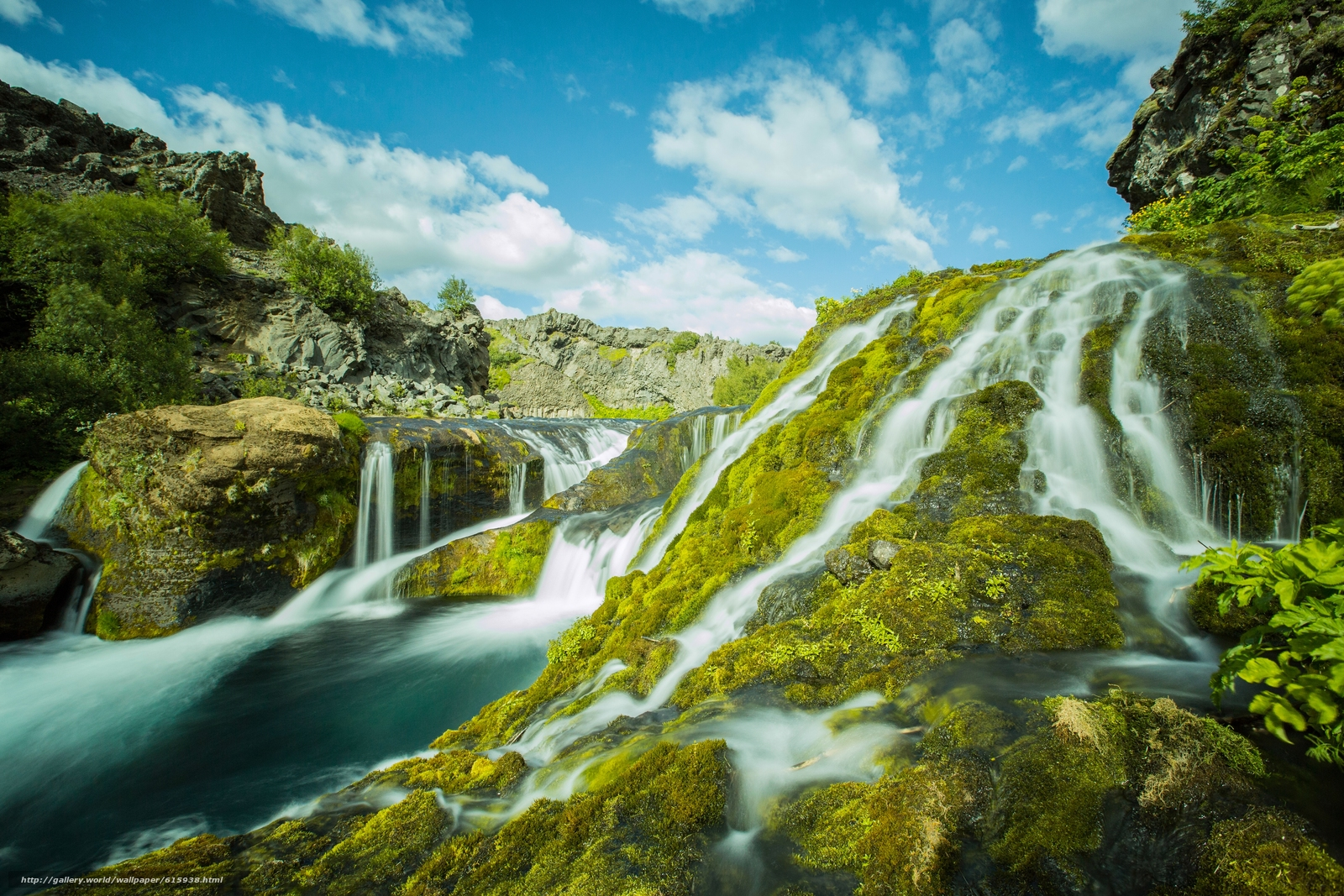 Download wallpaper Gjáin,  iceland,  Iceland,  waterfalls free desktop wallpaper in the resolution 5760x3840 — picture №615938