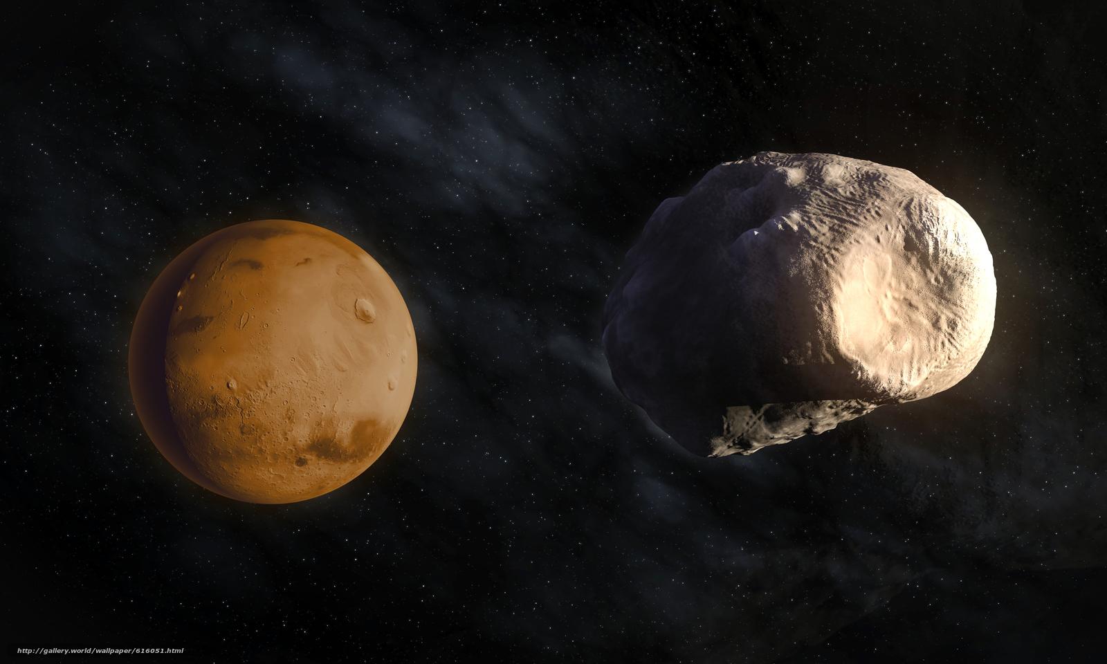 Descargar gratis planeta,  Marte,  Satélite,  Phobos Fondos de escritorio en la resolucin 6500x3900 — imagen №616051