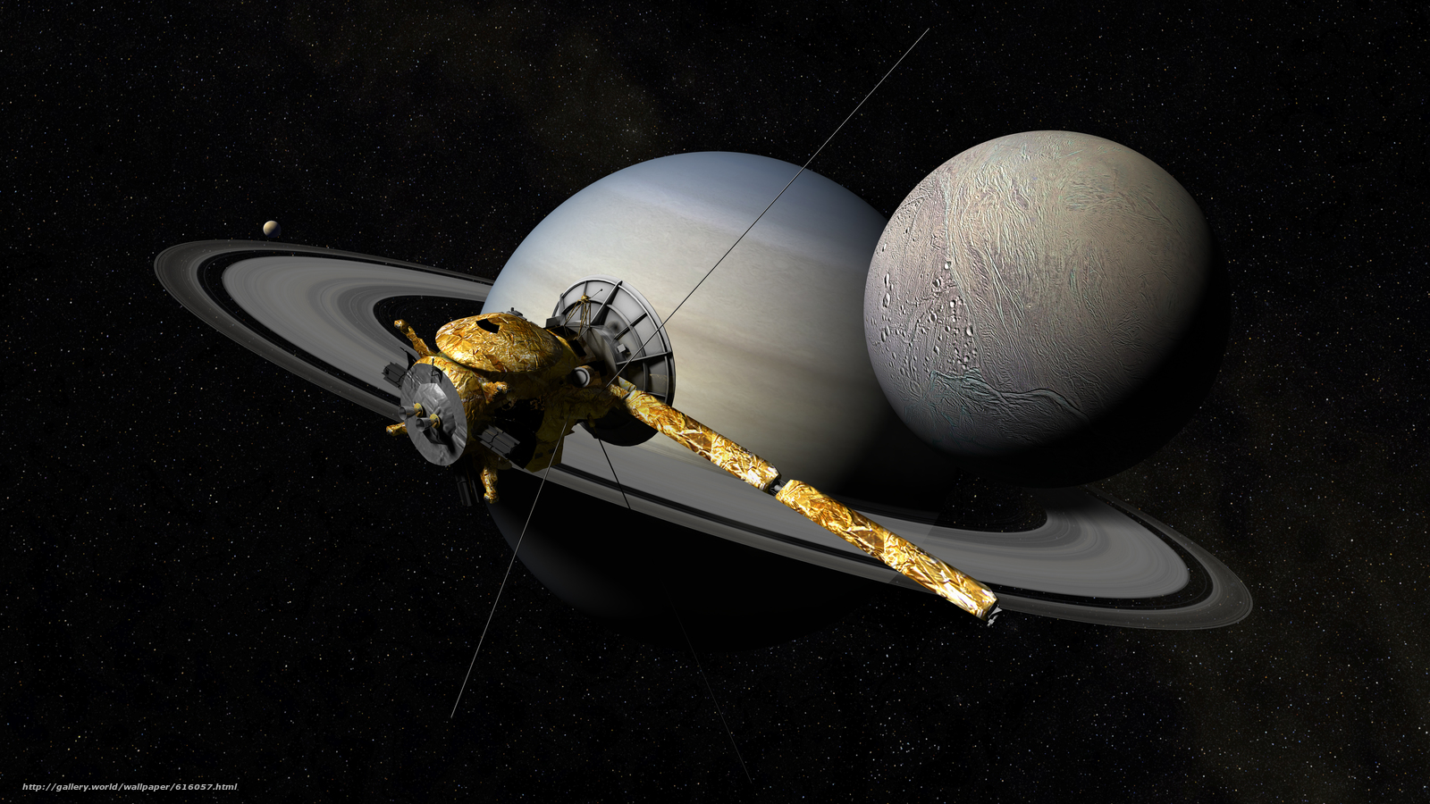Скачать обои Кассини-Гюйгенс,  автоматический,  космический,  аппарат бесплатно для рабочего стола в разрешении 5760x3240 — картинка №616057