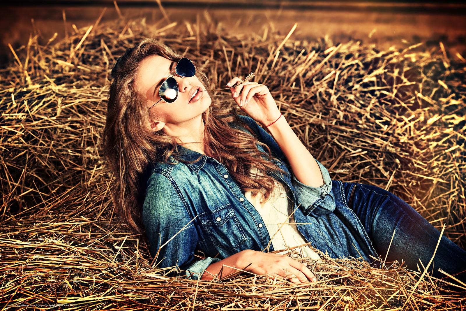 Скачать обои модель,  джинса,  стиль,  очки бесплатно для рабочего стола в разрешении 4200x2800 — картинка №616354