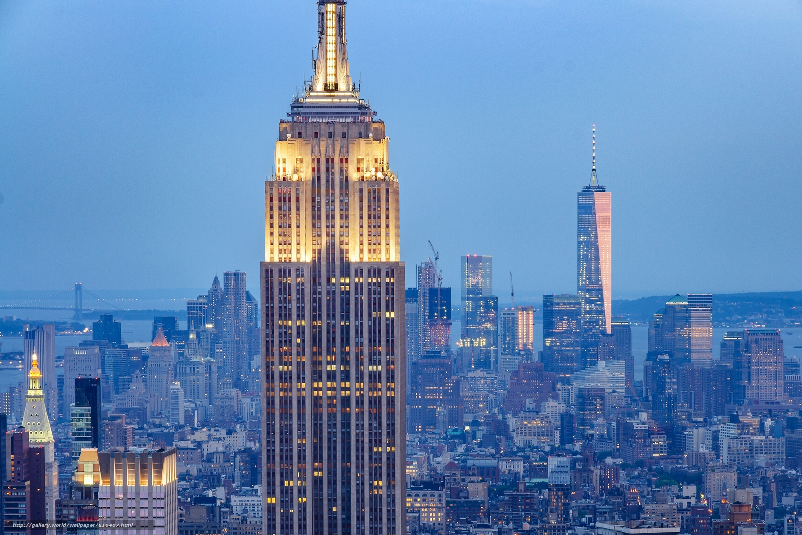 Download wallpaper Empire State Building, Manhattan, New York City, The Empire State Building